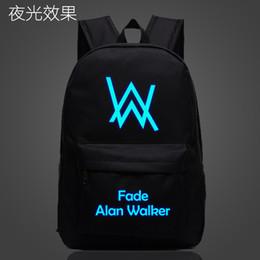 2019 musique de cahiers Alan Walker Faded Music School Bag sac à dos lumineux et étudiant sac à dos Sac à dos pour ordinateur portable Daily Glow in the Dark musique de cahiers pas cher