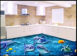 2018 Fliesen Kleber Großhandel Großhandels Kundenspezifisches  Foto Boden Tapete Unterwasserwelt 3D Bodenfliesen