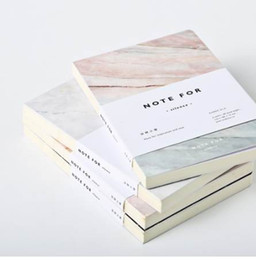 Wholesale mini cute note book - Japanese Cute Stationery Note for Silence 80 Pages Marble Designs A5 Empty Pages Notebook Journal DIY Personal Diary Note Book