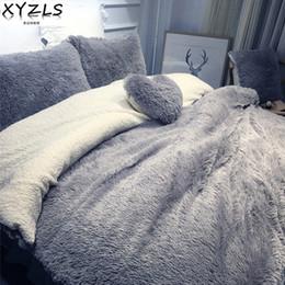 set completo di biancheria viola Sconti XYZLS Solid Modern Modern Queen Bedding Set Twin Full King Biancheria da letto calda Home Rosa Beige Blu Grigio Viola Camel Bedding Kit