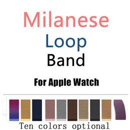 Canada Milanese Loop Band pour Apple Watch Série 38/42 mm Bracelet en acier inoxydable 1/2/3 Bracelet en métal Remplacement de bracelet cheap metal band bracelets Offre