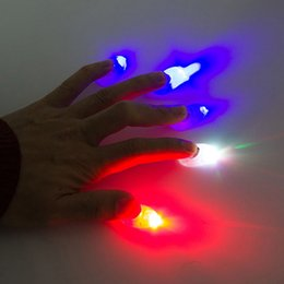 2019 bagues en plastique clignotantes La magie du débutant de magie de magicien de débutants d'étincelle de pouce de lumière de LED de danse
