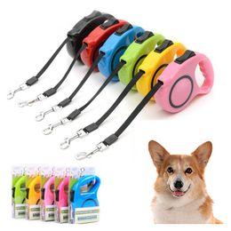 Wholesale Extending Leash - 3M 5M Automatic Retractable Dog Leash Durable Nylon Dog Lead Extending Puppy Walking Leads Rope Pet Supplies