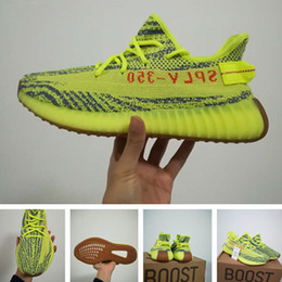 Wholesale Blue Lace Socks - With Box Socks Receipt boost 350 v2 Semi Frozen Yellow sply 350 yebra Kanye West Running Shoes blue tint sneaker