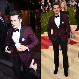 Wholesale Cheap Formal Jackets Men - Cheap Purple Groom Tuxedo Slim Fit Formal Men Suit Best Custom Made Men Wedding Suits (jacket+pant+tie)