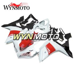 Wholesale Yamaha R1 Red White - Full Fairings For Yamaha 2007 2008 YZF1000 R1 Injection ABS Motorcycle Motorbike Gloss White Red Black Body Kits Bodywork Covers Cowling New