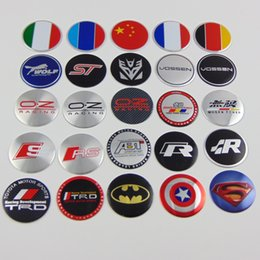 Wholesale America Covers - 4pcs 56.5MM England UK America USA Germany Italy Car Door Wheel Center Hub Caps Cover Rim Sticker emblem Badge for BMW Benz Audi car Styling