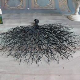Ramas de coral online-Nueva Simulación Creativa Flores Alta Acuario Paisajismo Boda Flor Artificial Fake Plastic Peacock Coral Branch Venta Caliente 13 5rt aa