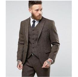 2019 colete elegante homens Outono e Inverno Nova Versão Homens Ternos Elegantes MenThree Piece Set Vestido (Jacket + Vest + Pant) Lapel Suit colete elegante homens barato