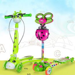корпус скутера Скидка Новые дети удар скутеры детские дети PU 4 круглый лягушка скутеры спорта на открытом воздухе разборки пластиковые тела регулируемая высота