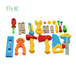 Wholesale Construction Pieces - Fly AC Toy 20 Pieces Complete Tool Toy Set, Construction Tool Set, Pretend Play for Birthday Xmas Gifts