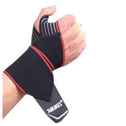 Wholesale pc fitness - AOLIKES 1 PCS Adjustable Opening Design Weight Lifting Wristband Wrist Support Winding Bracers Gym Fitness Wrist Straps Bandage