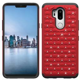 Wholesale luxury cell phone cases diamonds - For Lg g7 Phone Case Luxury Diamond Rhinestones Cell Phone Case LG v30 k10 lv3 Aristo 2 g6 Stylo 3 Back Cover Case