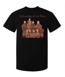 Herr ringe drucken online-Herr der Ringe Fellowship der Ring Zeichen Herren T-Shirt schwarz Fremde Dinge Print T-Shirts Original