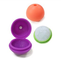 Wholesale Football Candy - Creative Candy color food-grade silicone football form ice hockey ice mold icer maker LZ0924