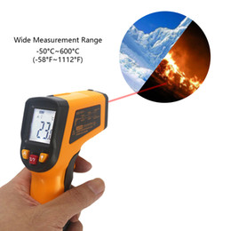 Wholesale Digital Lcd Display Thermometer - Laser IR Infrared Thermometer Digital LCD Display Pyrometer -50~600C -58~1112F Replace GM550