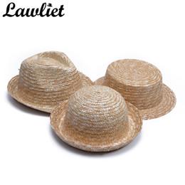 Wholesale Diy Fascinator Hats - DIY Craft Straw Hats Base Women Man Flat Top Wide Brim Straw Hats Fascinator Party Sun Beach For HandMade Craft T249