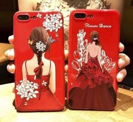 couverture d'iphone Promotion style de robe de mariage cas de téléphone pour iphone 5 5s 5 se 6 6 plus 7 7plus iphone x couverture en plastique complet