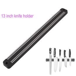 Монтировочный нож онлайн-Высокое качество 13 дюймов Магнитный держатель ножа Настенное крепление черный ABS пластиковый блок Магнит держатель ножа для металлического ножа