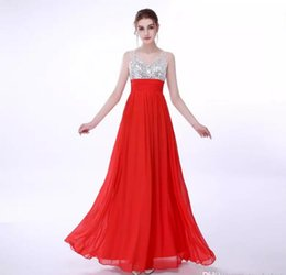 Wholesale Cheap Boned Corsets - Cheap Sleeveless Chiffon Prom Dresses Long 2018 Corset Back Sequined V Neck Formal Party Gowns ZAHY 100% Real Image Crystals Evening Dresses