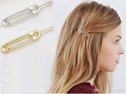 pinzas para el cabello de acero inoxidable Rebajas Fashion Europe stlyle Pin Horquilla Dorado o plateado color para el regalo de la pinza de pelo del amante de las muchachas de las mujeres