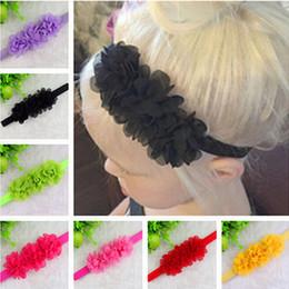 Wholesale Cheap Head Bands - 1PC TWDVS Flower Headband Newborn Hair Bows For Gift Head And Hair Bands Cheap Accessories Para Headwear w001