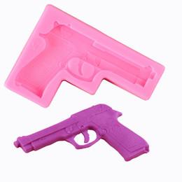 Wholesale Uv Cake - Toy gun AB UV resin epoxy silicone mold DIY soap Fondant Cake Decoration baking tools