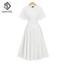 Deutschland 2018 Frühling neue Ankunft Frauen Kleid Solide hohe Taille knöchellangen Kurzarm schlanke elegante Oversize Vintage Vestidos D85306Y Versorgung