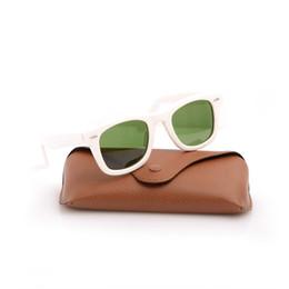 2019 männer s sonnenbrille weiß Hohe Qualität Plank Sonnenbrille Weiß Rahmen Grün Objektiv Sonnenbrille Metall Scharnier Sonnenbrille Herren Sonnenbrille Strahl Frauen Brille 2140 Sonnenbrille rabatt männer s sonnenbrille weiß