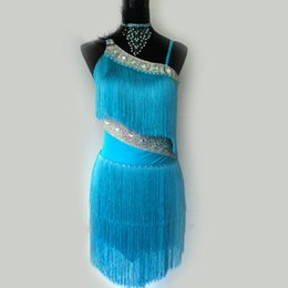 d95bcdf10 Women girls Latin Dance Dress Sexy More Color Tassel Dresses For Cha Cha  Samba Rumba Clothes For Ballroom Tango Dancing DL2538