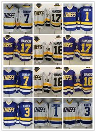 Wholesale Quality 16 Movies - 13 styles Hanson Brothers Charlestown Hockey Jerseys #16 Jack #17 Steve #18 Jeff SlapShot Movie Jerseys Stitched Top Quality Jersey