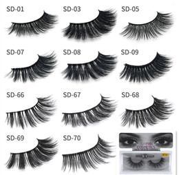 pestanas falsas sexy Desconto HOTsale !! New 3D Mink Cílios Cílios Messy Eye chicote Extensão Sexy Cílios Tira Cheia cílios postiços cílios postiços DHL grátis
