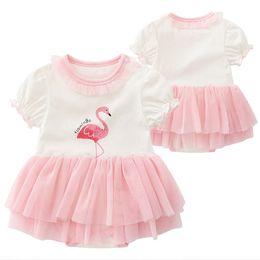 2d74e436a59 Newborn Girl Dress Flamingo Birthday Princess Dresses Toddler Infant  Beautiful Christening Gowns Baby Clothes Baptism Dress christening gown  newborn on sale