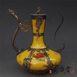 7580232d067 Antigo Exquisite Antique Tibet Prata Verde Porcelana Artes Artesanato  Flagon Teapot Home Decor Ornamento Do Presente Coleção Antiguidades 55yz bb  coleções ...