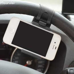 Wholesale Steering Bracket - Car Steering Wheel Phone Holder Navigate Bracket Stand Case Cover For Apple iPhone 6S 7 7 Plus 5 SE 5S For Samsung LG HTC Cubot