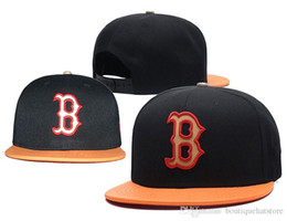Wholesale Red Sox Hat Adjustable - New Men's Red Sox Snapback Hat with Reflection Design B Letter Team Logo Brand Hip Hop Sports Baseball Adjustable Caps
