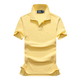 Wholesale xxl mens luxury casual shirts - Summer Fashion Mens Polo Shirt Male Short Sleeves Luxury Designer Polo Mens Solid Color Shirts Size XS-XXL