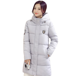 Wholesale New Korean Down Jacket - Wholesale- 2017 Winter New Korean Version Of Cotton Long Section Of Large Size Women's Slim Padded Jacket Thick Coat Female CC032