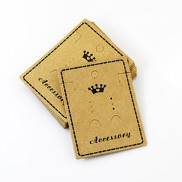 Wholesale Earring Jewelry Displays - 5.57*7.8cm Kraft Paper Stud Earrings Necklace Tag Jewelry Display Card Ear Stud Hooks Cardboard Price Tags 100 pcs lot