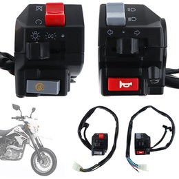 Wholesale Handlebar Motorcycles - 2pcs Universal 7 8inch Motorcycle Handlebar Horn Turn Signal Light Controller Switch Push Button Switch AUP_20K