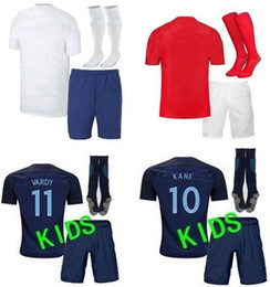 Wholesale Harry Kid - Fastest shipmeng to UK! 2018 England World Cup kids bebe soccer Jersey white red away Harry Kane Vardy Football Jerseys kits 2018 19