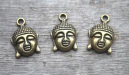 pingentes de buda de bronze Desconto 15 pçs / lote - encantos de Buda, bronze antigo Maitreya Buddha charme pingentes 22 x 14 mm