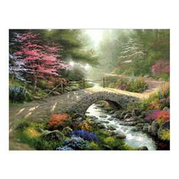 amerikanische indische malereien Rabatt Thomas Kinkade Landschaftsölgemälde Drucke auf Leinwand Wandkunst Bild für Wohnzimmer Einrichtungsgegenstände Ungerahmt HD-12115