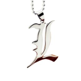 death note l Promo Codes - Accessories Animation Cartoon Around Death Note L Pendant Necklace Charming Jewelry