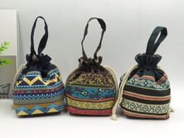 Wholesale Purse Cloth - Cute mini string bag lady cloth art zero purse hand carry cosmetic bag.