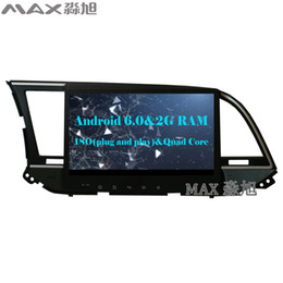 Wholesale Hyundai Hd - 2G+16G Android 6.0 HD 1024*600 Car DVD Player for Hyundai Elantra 2016 2017 with Radio RDS 4G WIFI GPS free Map BT