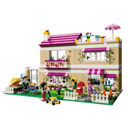 Wholesale Models Toys Hobbies - City Girl Friend Olivia 's House 3D Model Building Blocks Kit Educational Toys Hobbies for Children Gifts Compatible Legoedly