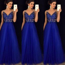 b6b0022465e 2018 neue Mode formale Abend Prom Mesh V-Ausschnitt Hochzeit Ballkleid  langes Kleid Sexy