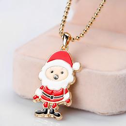 colar para o presente do natal da amiga Desconto Hot Colar de Natal Esmalte Jóias Imprimir Snowman Deer Socks Árvore De Natal Pingente de Colar 2018 Presente de Ano Novo da Amiga