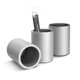 Canada Haute Qualité CNC Alliage D'aluminium Porte-Stylo Crayon Organisateur Porte-boîtes Configuration Du Bureau Accessoires de bureau De Stockage Organisateur bureau Offre